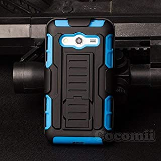 Cocomii Robot Armor Galaxy Core 2 Case New [Heavy Duty] Premium Belt Clip Holster Kickstand Shockproof Bumper [Military Defender] Full Body Dual Layer Rugged Cover for Samsung Galaxy Core 2 (R.Blue)