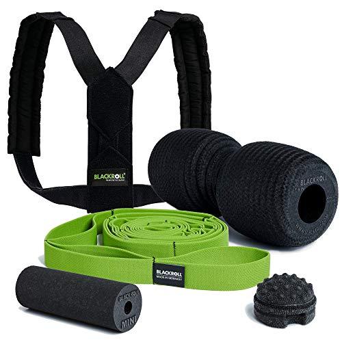 BLACKROLL® HOMEOFFICE Set Professional- Fit & Schmerzfrei am Arbeitsplatz. Hilfmittel für Haltung, Dehnübungen und Regeneration der Muskeln