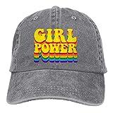 Jopath Girl Power Rainbow Buntes Logo Hut Baseball Cap Gestickt Vintage Adjustable Unisex Baseball Hat-Grey