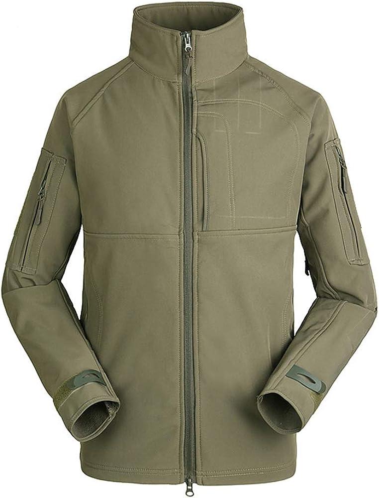 Newdeve Men's Raincoat Waterproof Lightweight Rain Jacket Active Outdoor Hooded Collar Trench Coats
