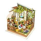 KEHUASHINA Puppenhaus Kreative DIY Miniatur Kit Gartenhaus mit Möbel Sets Beste Freund