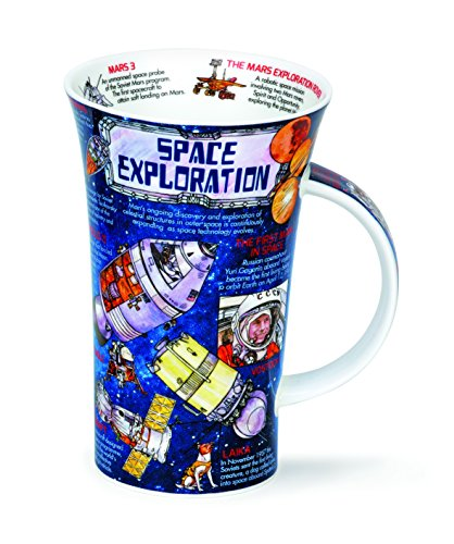 DUNOON Bone China Becher Space Exploration Becher Glencoe Made in England???NASA, Iss, Mars, Mond