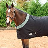 Best On Horse – Coperta scintillante WoW per cavallo, in pile, ideale per esterno, Grey, UK 6'3 / EU 135cm / 75'