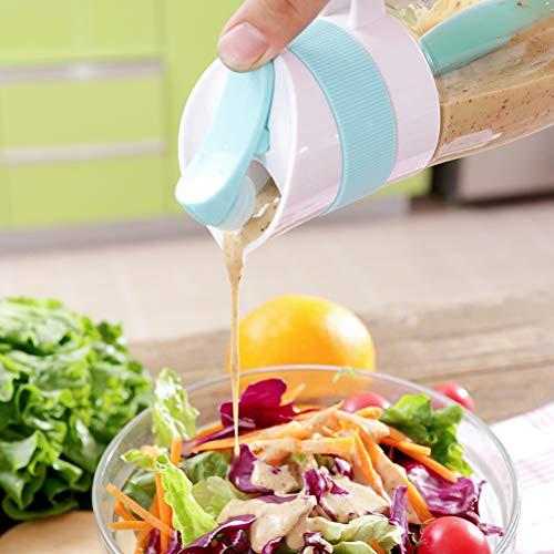 XIANGBAO Botella mezcladora de aderezo de salsas, botella de agitación de ensalada, taza de mezcla de condimentos para la barra de refrigeración de la cocina