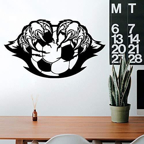 sanzangtang Stilvolle Fußball Tapete Familie Dekoration Wandaufkleber für Kinderzimmer Kunst Aufkleber Vinyl Wandbild 42x72cm