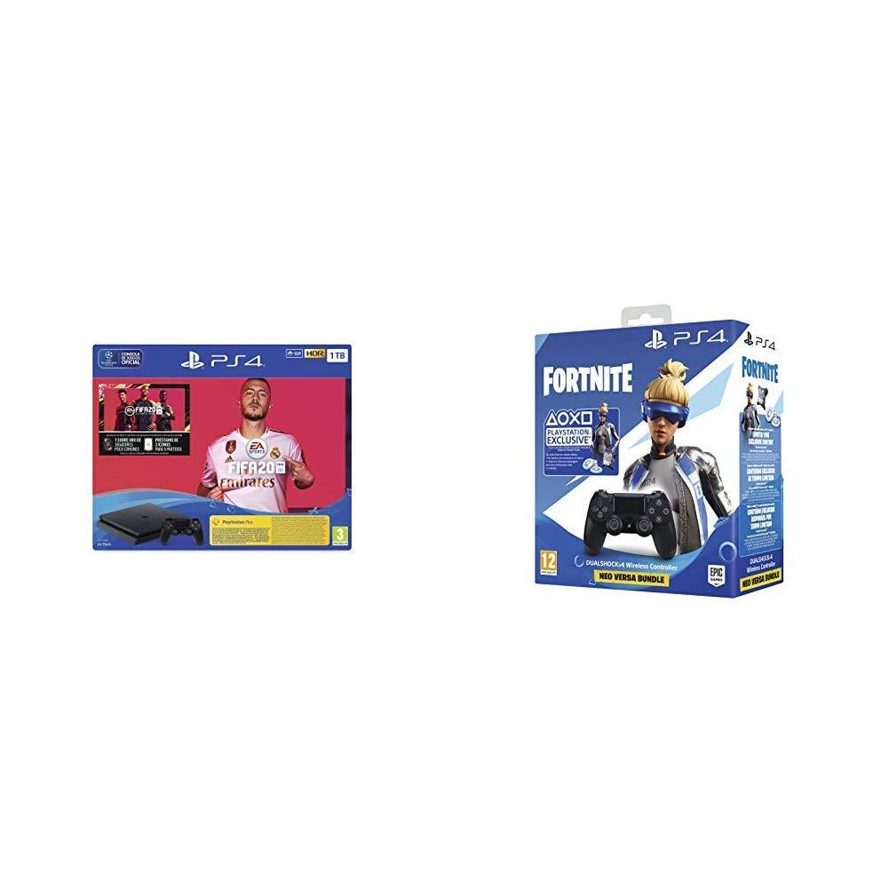 PlayStation 4 (PS4) Consola de 1TB + FIFA 20 + Sony - DualShock 4 ...