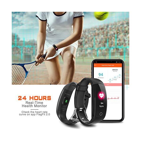 ELEGIANT Pulsera de Actividad Inteligente, Reloj Inteligente IP67 Deportivo 3D UI Hombre Mujer Niño Podómetro con GPS… 2