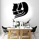 YuanMinglu Venta de teléfono Adhesivos de Pared Vinilo Oficina Negocio Decorativo Ventana calcomanías extraíble Mural Negro 57x59cm