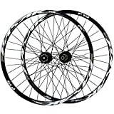 Ruedas de Bicicleta,Rueda Trasera para Bicicleta 26/27.5/29 Pulgadas Llanta MTB de Doble Pared 32 Hoyos Frenos de Disco Volante 7-11 Velocidades (Color : Black, Size : 27.5in)