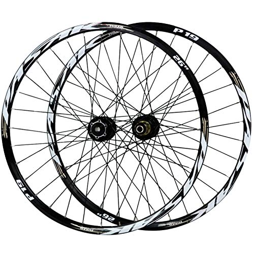 ZNND 29-inch Bike Wheels,Double Wall Disc Brakes 7-11 Speed Mountain Bicycle Wheel Set 15/12MM Barrel Shaft (Color : Gold, Size : 29in/15mmaxis)