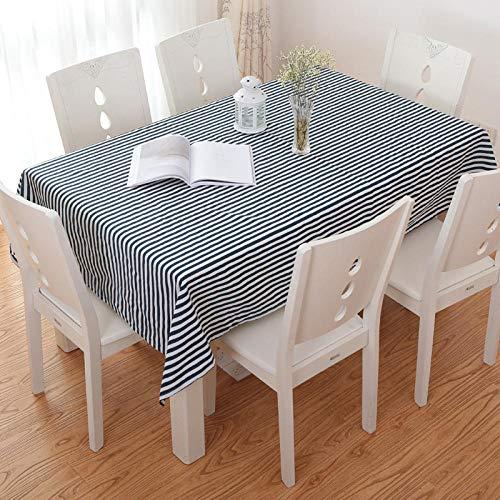 GTWOZNB Borla del Paño de Tabla del Lino del Algodón para la Cubierta de Tabla de Cena del Banquete Simple y fresco-19_El 120 * 160cm