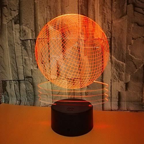 Illusion des Basketballs 3D beleuchtet Weihnachtsgeschenk-Nachtlicht 7 Farben Berühren Sie/Fernschalter Tischplattendekoration beleuchtet Geburtstagsgeschenk USB/AA batteriebetrieben