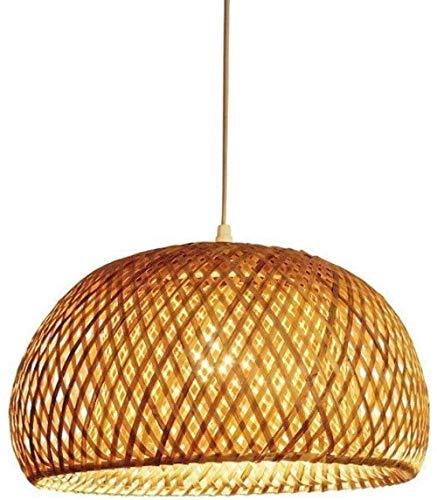 Iluminación Techos de luz colgante Araña Araña de bambú de una sola cabeza estilo retro Decoración Bar Barn Club Accesorios de iluminación de mimbre 18 * 30cm