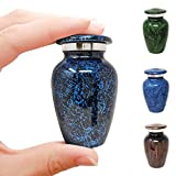 Aquarius Blue Small Aluminum Keepsake Cremation Urn   Choose From 4 Unique Colors   Mini Metal Sharing Personal Funeral Urn for Pet or Human Ashes   Create Your Own Assortment