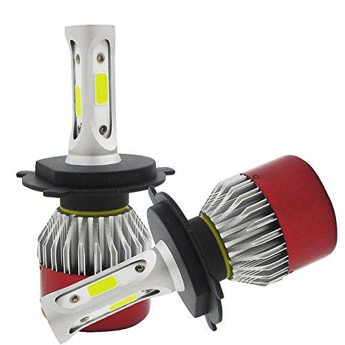 ZGMA H4 Automatique Ampoules électriques COB LED Lampe Frontale/Feu Antibrouillard White Spot H4