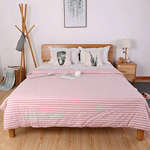 VDSON Bed Throws 3 Piece Stripe Comforter Set Thin Comforter Blankets Machine Washable Soft Light Weight Air Conditioning Quilt For Spring/Summer/Autumn (Color : 2#, Size : 200x230cm)