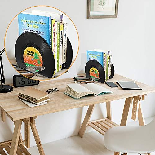 Buchstützen in Schallplattenform - 8