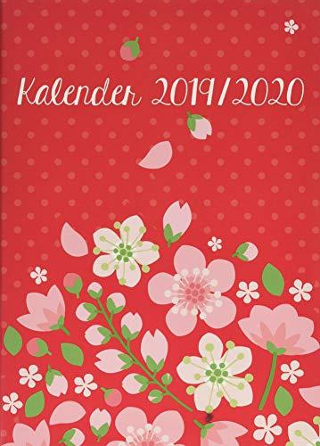 Floral 17-Monats-Kalenderbuch A5: Von August 2019 bis Dezember 2020. Taschenkalender 2020. 17-Monate Wochenkalendarium. gebunden. Format 15,5 x 21,5 cm
