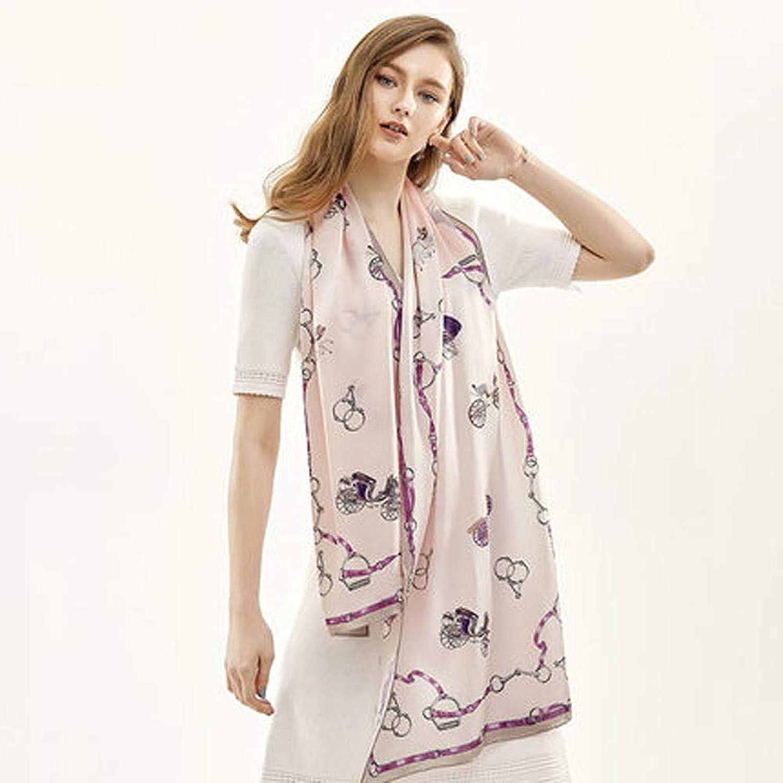 AINIYF Womens 100% Mulberry Silk Scarf Long Satin Scarf Fashion Designer Scarf Lightweight Neck Wear 67.1x20.5inches (color   A4)