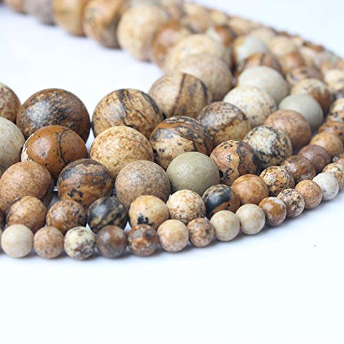 4 6 8 10 12Mm Natural Stones Camel Picture Stone Loose Beads DIY Fashion Bracelet Necklace Jewelry Accessories Make Picture stone 12mm 32beads