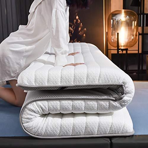 ZXF matrasmatras, vijf lagen, schuimmatras, met ademend matras, dikte 6 cm, queensize queensize bed, lichaamsmassage, drukvrijheid, Tatami, matras, bovenmatras (afmeting: 1200 mm x 1900 mm x 60 mm)