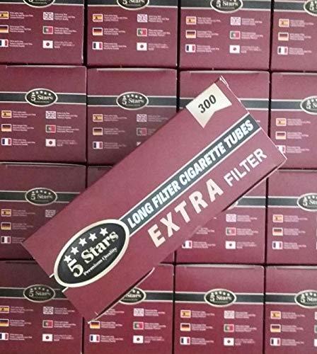 Cajón con 12000 tubos vacíos cigarrillos 5 Star filtro Extra Largo (23mm).- 40 cajitas 300 uds