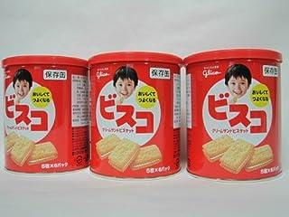 グリコ ビスコ 保存缶 30枚入り×3缶セット