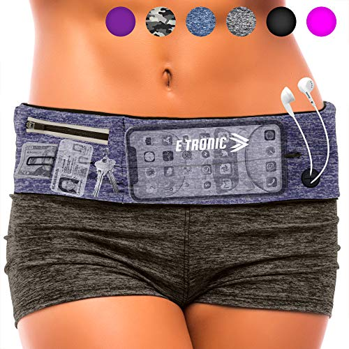 E Tronic Edge Running Belt : Best Waist Packs Fanny Pack Fits All Phones (Blue) Workout Cell...