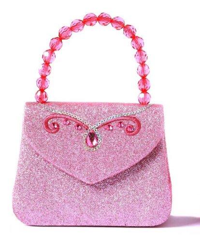 Trullala Glitzer-Handtasche, Kinderhandtasche in rosa