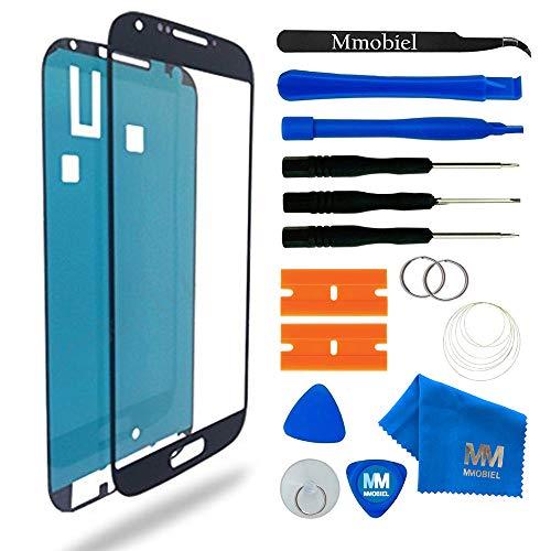 MMOBIEL Front Glas kompatibel mit Samsung Galaxy S4 i9500 i9505 Display (Schwarz) mit Werkzeug