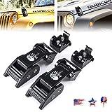 Buling Aluminum Hood Latches Catch Kit Compatible with Jeep Wrangler JK JKU 2007-2018 & 2018-2020 Jeep Wrangler JL JLU – Pair (Skull)