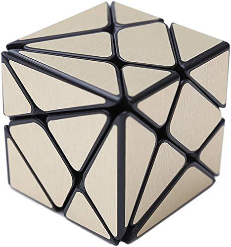 RENFEIYUAN Nuevo MA Irregular !!Irregular de Axis Kingkong con 3D Cepillado para Adultos y niños Rubik Cubo (Color : Gold)
