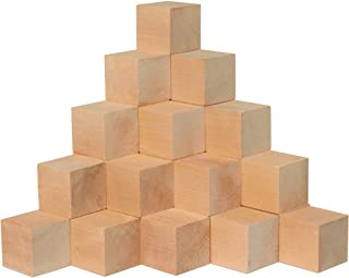 2 Inch Wooden Blocks, Bag of 50 Square Blank Birch Blocks, Baby Shower Decorating Cubes, Puzzle Making and DIY Craft Projects(2 Inch Unfinished Wooden Blocks). by Woodpeckers