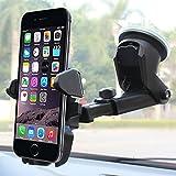 nickaco soporte de coche, fácil One Touch soporte de coche–apropiado para iPhone 7S/6S, Plus 6S 5S/5C, Samsung Galaxy S8, Edge S7/S6, Nota 5