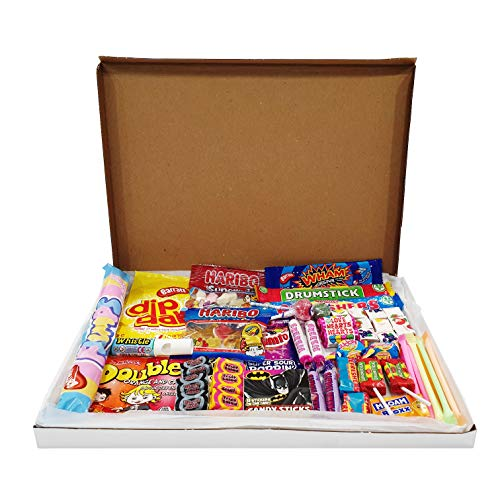 The Little Sweet Shop Retro Sweet Gift Hamper Retro for Children and Candy Lovers (Letterbox)