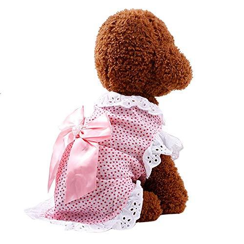 Doublehero Hundebekleidung,Hund Katze Puppy Prinzessin Kleider Modischer Mesh Spitze Tutu Rock Bowknot Hund Kleid Prinzessin Hochzeit Kleider Kostüme Kleidung Kleidung (XL, Rosa)