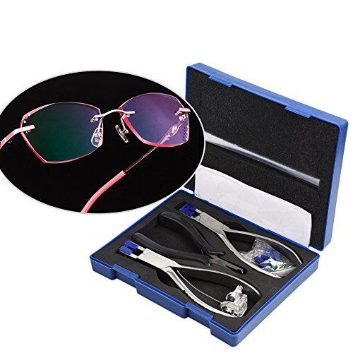 Rimless Glasses Frame Silhouettes Eyeglass Optical Kit Plier Repair Disassembly Tool