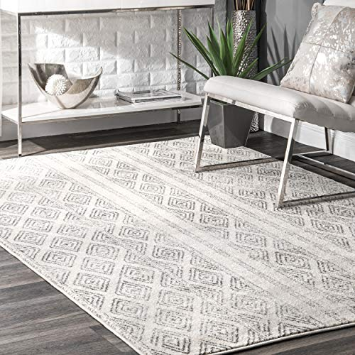 nuLOOM Sarina Diamonds Area Rug, 5' x 7' 5', Grey