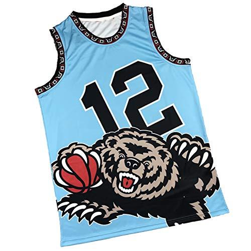 Camiseta De Baloncesto para Hombre Morant, Grizzlies # 12 Chaleco Deportivo Interior Bordado Floral (S-XXL) XXL