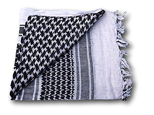 Volwassenen Unisex Full Size Shemagh Sjaal Arabische Hoofd Sjaal Kafiyah - 5 Kleuren - Maat: 110cmx110cm Militaire Spec - 100% Katoen