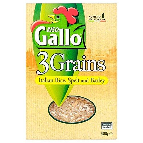 Riso Gallo Riz 3 Grains, L'Orge Et L'Épeautre 400G Risotto - Paquet de 6