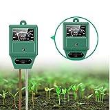 Soil pH Meter, 3-in-1 Soil Tester with Moisture, Light and pH Test for Garden, Lawn, Farm, Indoor & Ourdoor, Soil Moisture Meter & Soil pH Meter, Soil Water Monitor, Test Kit for Garden Plants