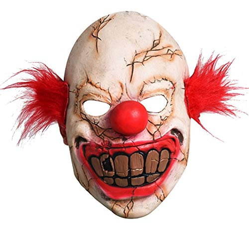 Halloween Clown Masker Hoofddeksels It: Hoofdstuk Twee Pennywise (Clown Back Spirit 2) Fancy Dress Party Kostuum Volwassen Masker Terrorist Pruik Cosplay Pruik Masker (rood) A