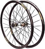 YZU Juego de ruedas para bicicleta de carretera 700 C, llanta de 30 mm, eje pasante, bloqueo central, freno de disco ultraligero 24 H 7 – 11 velocidades, negro, bloqueo central