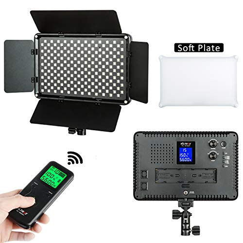VILTROX VL-S192T 45W/4700LM Dimmable LED Video Light Panel,Bi-Color Video Lighting,CRI95+,3300K-5600K,Wireless Remote, Barn Door Light Barrier