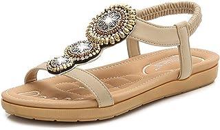 Summer Slippers Women's Flat Sandals Summer Flip Flops Lightweight Beach Pool Indoor Outdoor (Color : Apricot, Size : 37)