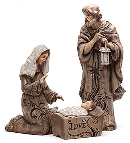 Mary, Joseph and Baby Jesus Large Nativity Trio Outdoor Statue