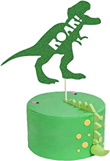 ROAR Cake Topper, Dinosaur Birthday Party Cake Decor, Dino Jungle Jurassic Dinosaur T-Rex Happy Birthday Party Cake Supplies Decorations