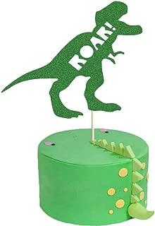 ROAR Cake Topper, Dinosaur Birthday Party Cake Decor, Dino Jungle Jurassic Dinosaur T-Rex Happy Birthday Party Cake Supplies Decorations