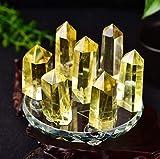 WERWER Columna de Cristal Topaz Natural Muebles de Columna de Cristal Natural de Siete Estrella para la decoración del hogar Artesanía